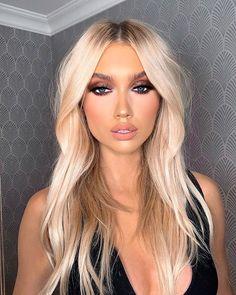 Ash Blonde Hair Dye, Blonde Bob Wig, Blonde Hair Looks, Brunette Hair, Dyed Hair, Blonde Hair Makeup, Blonde Haircuts, Funky Hairstyles, Formal Hairstyles