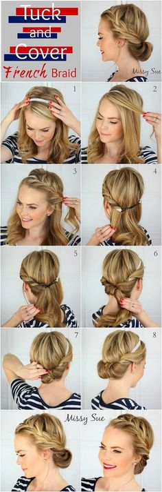 In nowadays hairstyles with hairbands are so popular and I'm sure that it'll be a wrap for french braid lovers!