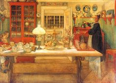 Carl Larsson's most successful works depict his house which nowadays is one of the most famous artist homes in art history.
