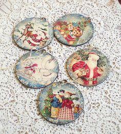 agir / Vianočné ozdoby Decorative Plates, Handmade, Home Decor, Hand Made, Room Decor, Craft, Home Interior Design, Home Decoration, Arm Work