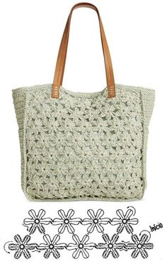 De Croche De Croche barbante De Croche com grafico De Croche de mao De Croche festa - Bolsa De Crochê Free Crochet Bag, Crochet Clutch, Crochet Handbags, Crochet Purses, Lace Bag, Crochet Flower Patterns, Fabric Bags, Knitted Bags, Crochet Accessories