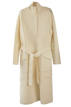 Ecru Long Wool Jacket by Wolford