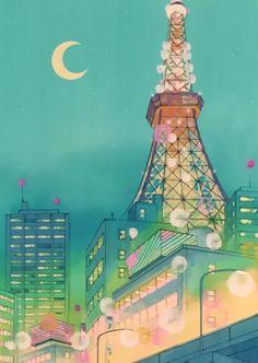 Sailormoon. Tokyo Tower.