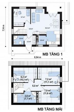 Bản vẽ mẫu nhà cấp 4 mái thái 3 phòng ngủ