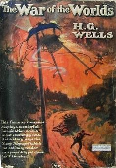 The War of the Worlds.  H. G. Wells.  Hodder  Stoughton, 1910, English.  Original dust cover.  First published 1898.