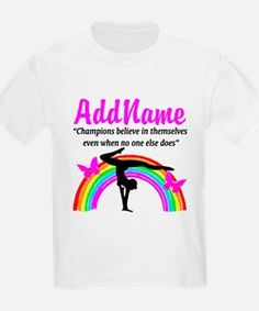 CHAMPION GYMNAST T-Shirt Calling all Gymnasts! The best selection of Gymnastics Tees and Gifts to inspire every Gymnast.   http://www.cafepress.com/sportsstar/10114301 #Gymnastics #Gymnast #WomensGymnastics #Lovegymnastics #Personalizedgymnast