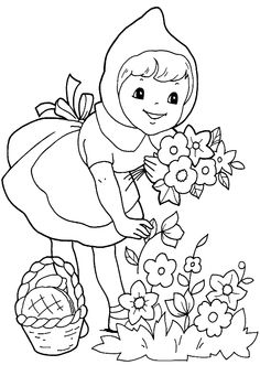 Here are the Perfect Little Red Riding Hood Pictures For Kids Colouring Pages. This post about Perfect Little Red Riding Hood Pictures . Coloring Pages For Girls, Cartoon Coloring Pages, Coloring Book Pages, Coloring For Kids, Coloring Sheets, Red Riding Hood Party, Red Hood, Free Printable Coloring Pages, Little Red