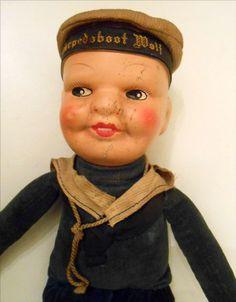 Vintage Sailor Doll