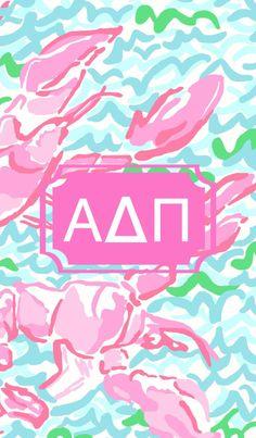 Greek Life in Lobstah Roll iPhone background made with Alpha Epsilon Phi, Alpha Xi Delta, Alpha Chi Omega, Delta Upsilon, Sorority Gifts, Greek Life, Iphone Backgrounds, Phone Wallpapers, Crafting