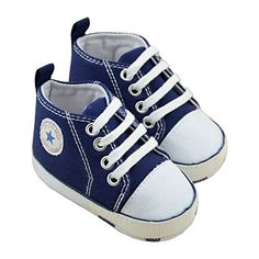 ZNU Baby Infant Canvas Shoes Toddler Sneaker Kickers for First Walking Booties Unisex Boys Girls 0-18 Months ZNU. All star Converse for babies.