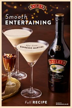 On a scale of 1 to a Baileys Espresso Martini, how much do you love Baileys? Baileys Cocktails, Cocktail Drinks, Fun Drinks, Yummy Drinks, Alcoholic Drinks, Coffee Cocktails, Beverages, Xmas Food, Christmas Drinks