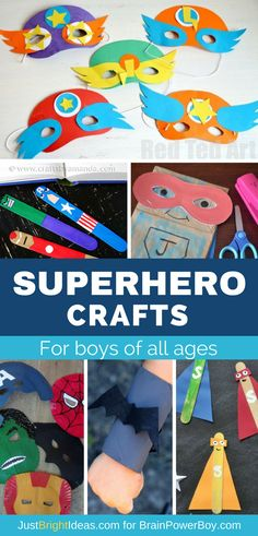 Boys will enjoy these superhero crafts!! These are the types of projects that get boys excited about crafting. Click to see all of the superhero goodness. #superhero #crafts #superheroes #easysuperherocrafts