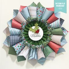 #doyoujourney #getinky #papercraftanonymous Winter Fresh Prints Wreath