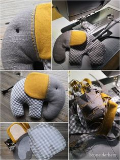 Ellifant - a sugar-sweet soft toy to sew yourself! Ellifant - a sugar-sweet soft toy to sew yourself! LÄCHELN UND WINKEN laechelnuwinken DIY Ellifant - a sugar-sweet soft toy to sew yourself! LÄCHELN UND WINKEN Ellifant - a sugar-sweet soft toy Baby Sewing Projects, Sewing Projects For Beginners, Sewing Hacks, Sewing Tutorials, Sewing Basics, Sewing Patterns Free, Free Sewing, Sewing Toys, Sewing Crafts