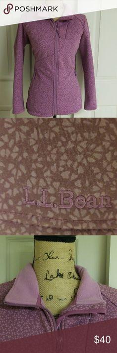 L.l. Bean Sweater Fleece Great condition! Super snug and cozy  Dark and light purple   2 side pockets L.L. Bean Jackets & Coats