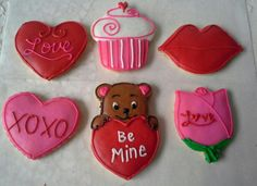 Valentine's day decorated cookies.  Made by Pastry Chef Yolanda- www.Facebook. com/PastryChefyolanda