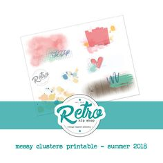 Retro Hip Magazine Add-on Printables - Summer 2018 - Messy Clusters    #ipadpro #procreate #scrapbooking #backgrounds
