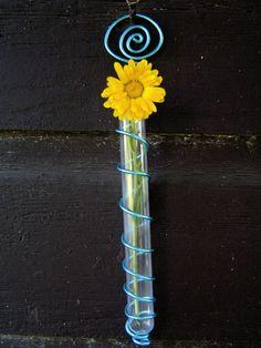 Blue Test Tube Flower Vase by enamor on Etsy                                                                                                                                                                                 More
