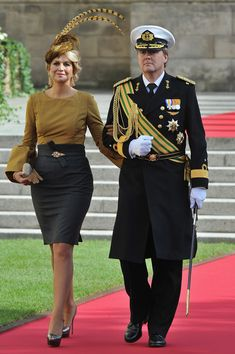 Máxima and Willem-Alexander at the royal wedding in Luxembourg, 2012