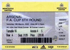 2002 FA CUP ROUND 6. NEWCASTLE...
