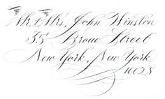 Enzo & Ziti Pointed Pen Calligraphy - Hand-executed Calligraphy for Special Events
