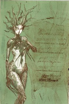 Ideas for a dryad/goddess of nature theme tattoo