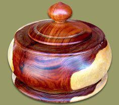 Mopani Wood Pot With Lid