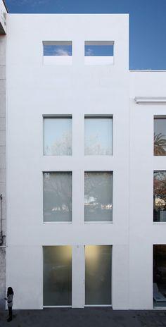 MADE   Ontinyent House · Industrial Design + Architecture - Borja Garcia            #design #architecture #minimal #concrete #white #wall #windows