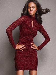 VICTORIA'S SECRET TURTLENECK LACE DRESS SZ XS RED EUC MODA INTERNATIONAL #ModaInternational #Cocktail