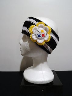 New!! Pittsburgh Steelers Crocheted Earwarmer with by OliviaRyanbyDGuess, $17.00