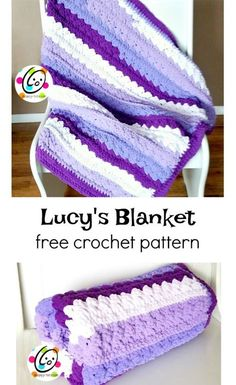 Free Pattern: Lucy's Blanket ~ Free Pattern: Lucy's Blanket ~,Crochet Blanket Patterns Free Pattern: Lucy's Blanket ~ SnApPy ToTs Related posts:Free Modern + Chunky Crochet Blanket PatternBernat Blanket Yarn Pattern Bernat Blanket Patterns, Afghan Crochet Patterns, Crochet Shawl, Crochet Yarn, Crochet Afghans, Baby Afghans, Free Crochet, Blanket Yarn, Baby Blanket Crochet