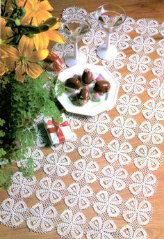 PDF Crochet runner pattern Home decor vintage par Marypatterns