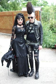 gothic couple at Wave Gotik Treffen 2011