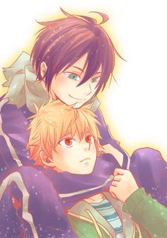 Noragami - Yukine and Yato there just like brothers... its so cute