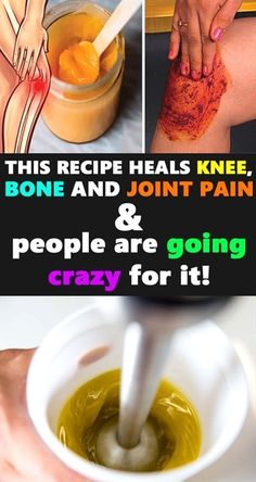 Get rid knee and joint pain naturally with this three ingredient�recipe! #BestVitaminsForNervePain #KneePainAfterBasketball #HerbsForNervePain