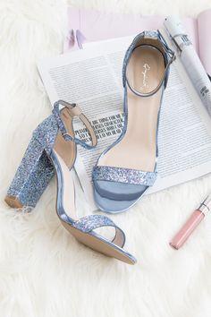 03b207fcc11 Electric Avenue Glitter Heels (Light Blue)