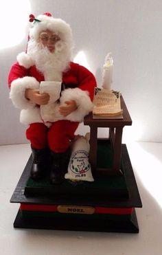 Santa Music Box  Letters Christmas Holiday Creations 1990 Christmas Songs
