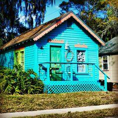 Blue Tropical bungalow