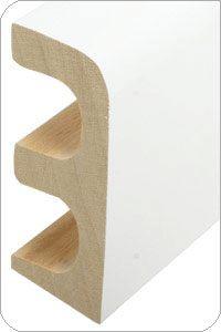 Holz-Rohrabdeckleiste 30x85mm foliert - Dekor: Weiß |