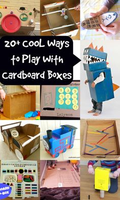Cardboard Crafts for a Rainy Day - 20+ COOL Ways to Play with Cardboard Boxes