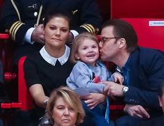 Princess Victoria, Prince Daniel and Princess Estelle attended the Championship European Figure Skating in Stockholm.