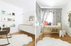 Modern Kids Room Ideas' LOVE THE FLOATING CABINETS FOR CHANGING TABLE