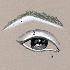 Para una mirada más fresca y dramática: delineador blanco! 1. Debajo de la cejas para acentuarlas y un efecto #eyelift. (difuminarlo) 2. A lo largo de las #pestañas superiores para agrandar la mirada y alargar las pestañas. 3. Delinear la parte interna de las pestañas inferiores para que además de agrandar los #ojos, conseguir un look fresco y bien descansado.