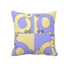 creative abstract cat art throw pillows