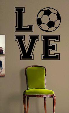 Soccer Love Version 2 Design Sports Decal Sticker Wall Vinyl Decor Art