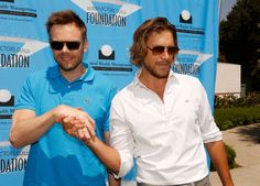 Joel McHale and Gabriel Aubry played in the SAG Foundation Golf Tournament, June 11, 2012, at Lakeside Golf Club in Burbank