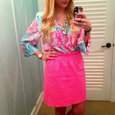 """emilygetsdressed:  """"Let's Cha Cha"""" Lilly Pulitzer Elsa of the Month top!"""