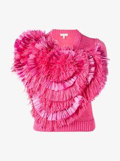 Delpozo Fringe Embellished Knitted Top