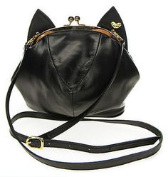 Black Bombay Cat Purrse – Meowingtons.... I have this purse and I LOVE it! Its so me!