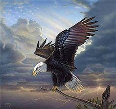 Rick Kelley EAGLE PRINT-Coming Home